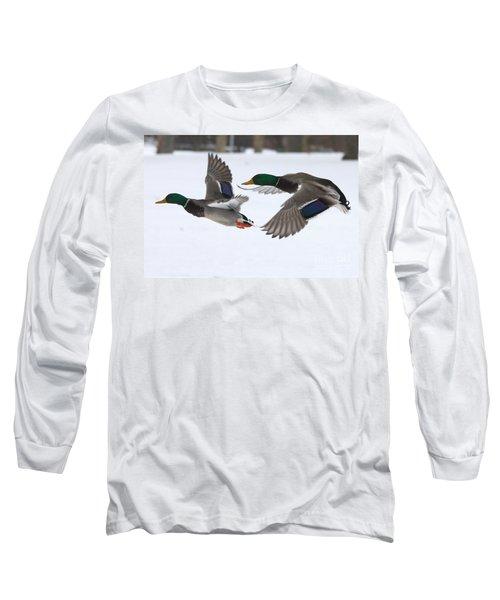 The Great Race Long Sleeve T-Shirt by John Telfer