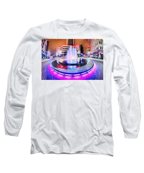 Long Sleeve T-Shirt featuring the photograph Tulsa City Skyline Around Downtown Streets by Alex Grichenko