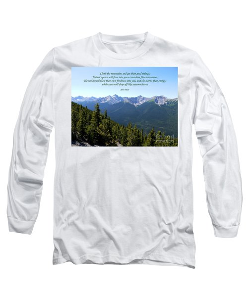 46- John Muir Long Sleeve T-Shirt by Joseph Keane