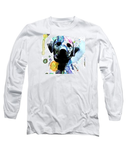 48x44 Labrador Puppy Dog Art- Huge Signed Art Abstract Paintings Modern Www.splashyartist.com Long Sleeve T-Shirt