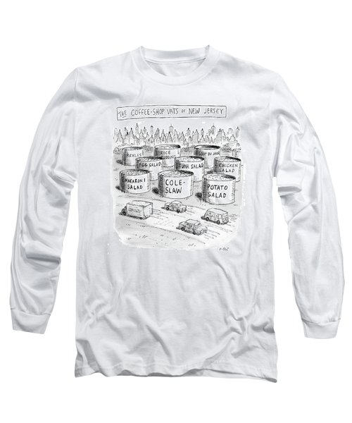 The Coffee Shop Vats Of New Jersey Long Sleeve T-Shirt