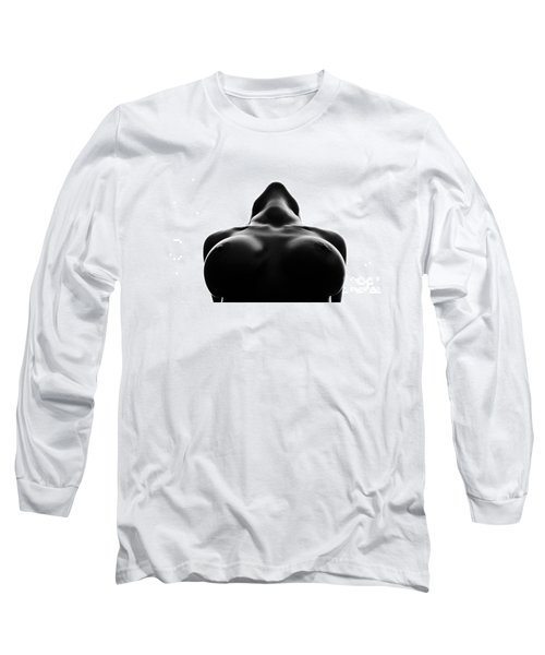 Black And White Nude Long Sleeve T-Shirt