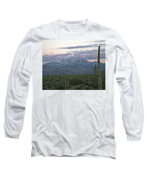 Four Peaks Sunset Snow Long Sleeve T-Shirt