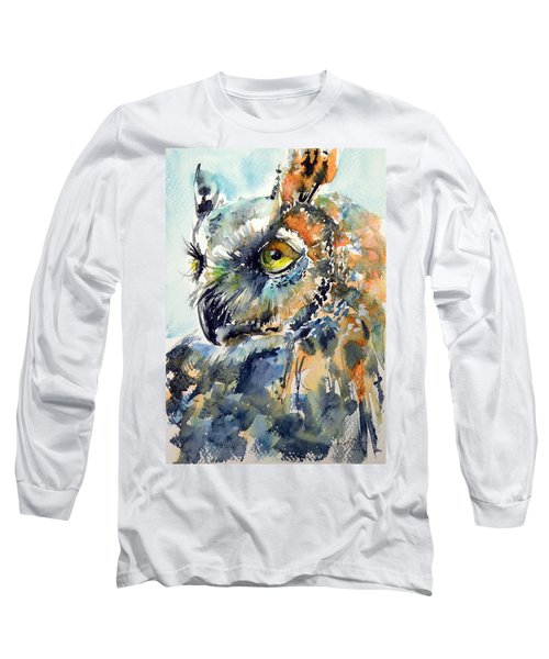Owl Long Sleeve T-Shirt by Kovacs Anna Brigitta