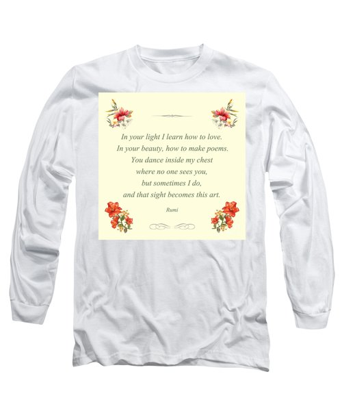 60- Rumi Long Sleeve T-Shirt by Joseph Keane