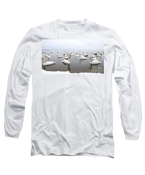 60 Swans A Swimming Long Sleeve T-Shirt