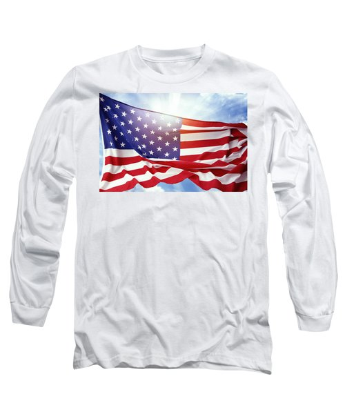 American Flag 55 Long Sleeve T-Shirt