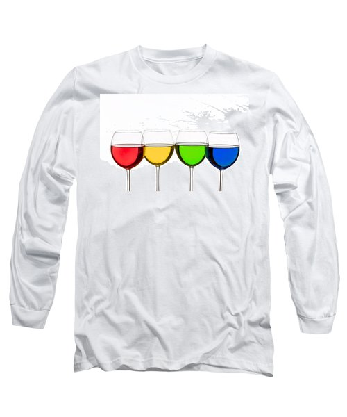 Colorful Wine Glasses Long Sleeve T-Shirt