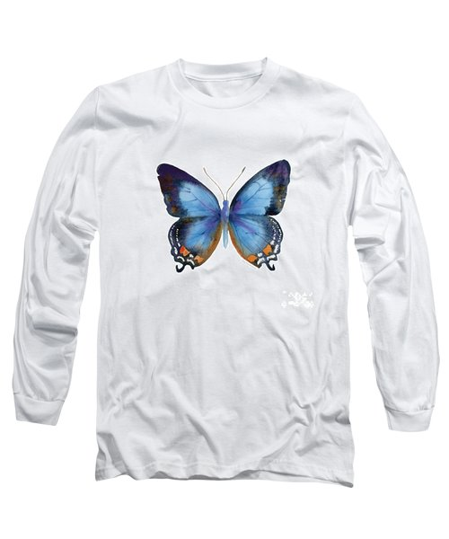 80 Imperial Blue Butterfly Long Sleeve T-Shirt