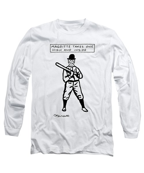 Magritte Takes One High Long Sleeve T-Shirt