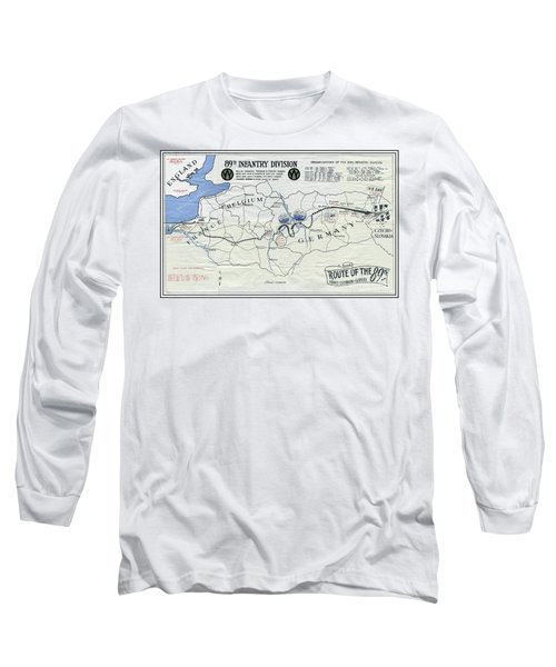89th Infantry Division World War I I Map Long Sleeve T-Shirt