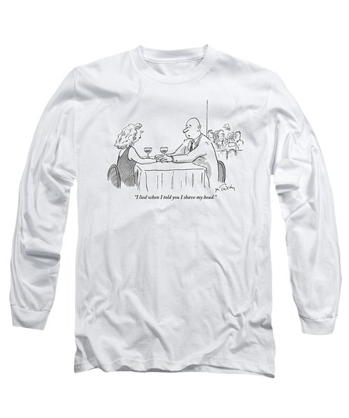 A Bald Man Speaks To A Woman At A Restaurant Long Sleeve T-Shirt