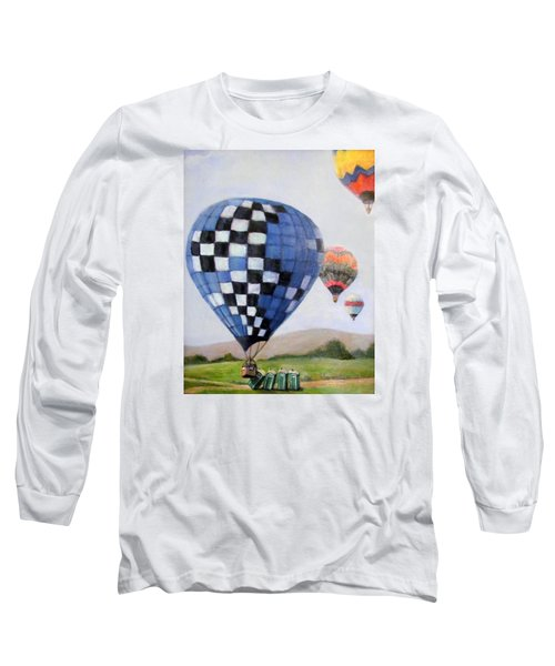 A Balloon Disaster Long Sleeve T-Shirt by Donna Tucker