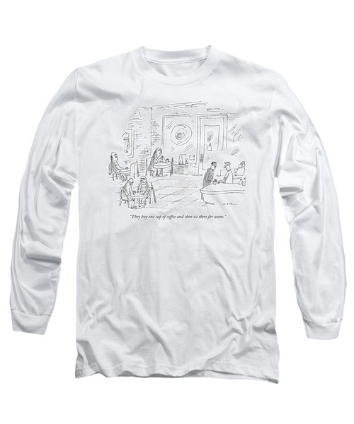 A Barista In A Coffee Shop Speaks To A Patron Long Sleeve T-Shirt