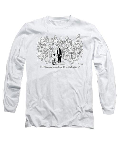 A Baseball Catcher Speaks To An Orchestra Long Sleeve T-Shirt