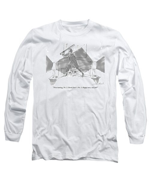 A Baseball Player About To Take A Swing Stands Long Sleeve T-Shirt
