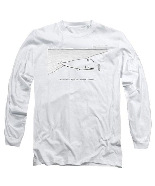 A Beached Whale Wears A Hasidic Rabbi Hat Long Sleeve T-Shirt