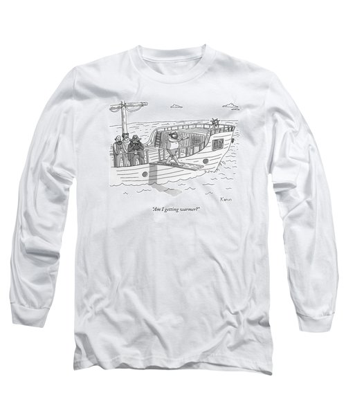 A Blindfolded Pirate Walks The Plank Long Sleeve T-Shirt