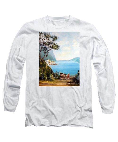 A Boat On The Beach Long Sleeve T-Shirt