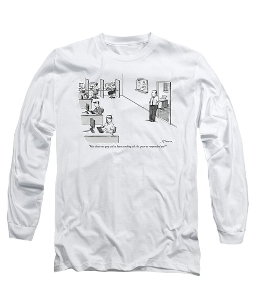 A Boss Addresses A Room Full Of People Sitting Long Sleeve T-Shirt