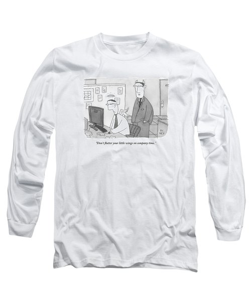 A Boss With Devil's Horns Speaks To An Employee Long Sleeve T-Shirt