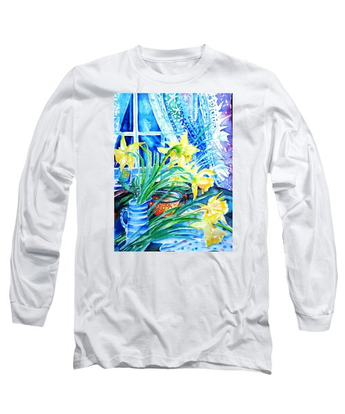 A Bouquet Of April Daffodils  Long Sleeve T-Shirt by Trudi Doyle