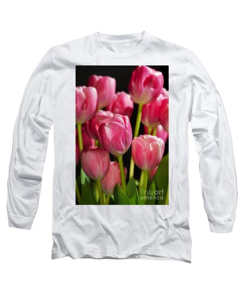 A Bouquet Of Pink Tulips Long Sleeve T-Shirt