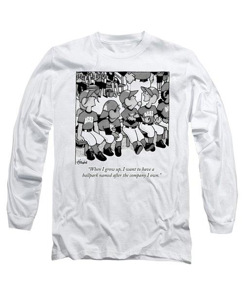 A Boy On A Little League Team Talks Long Sleeve T-Shirt