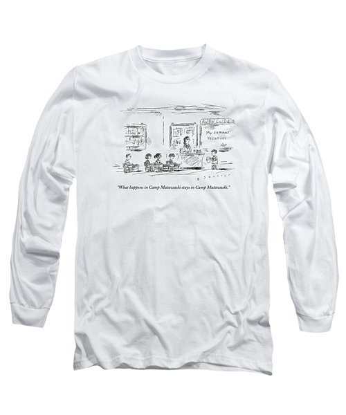 A Boy Reads A Report On His Summer Vacation Long Sleeve T-Shirt