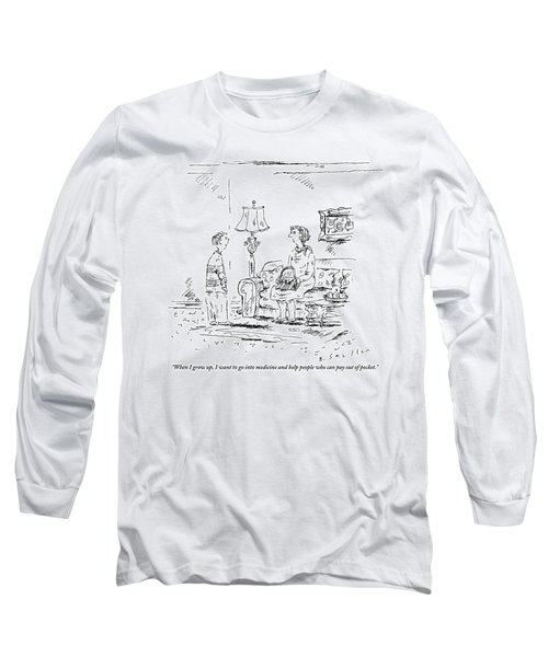 A Boy Speaks To His Mother In Their Living Room Long Sleeve T-Shirt