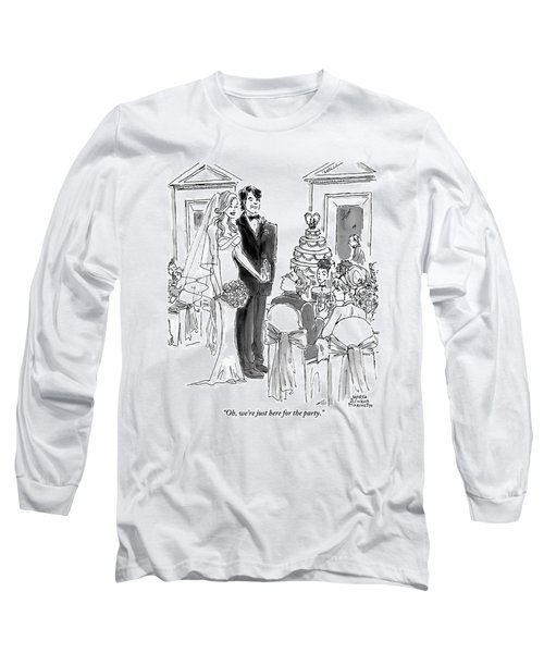 A Bride And Groom To The Guests At Their Wedding Long Sleeve T-Shirt