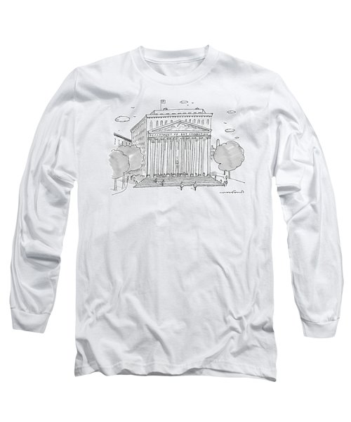 A Building In Washington Dc Is Shown Long Sleeve T-Shirt