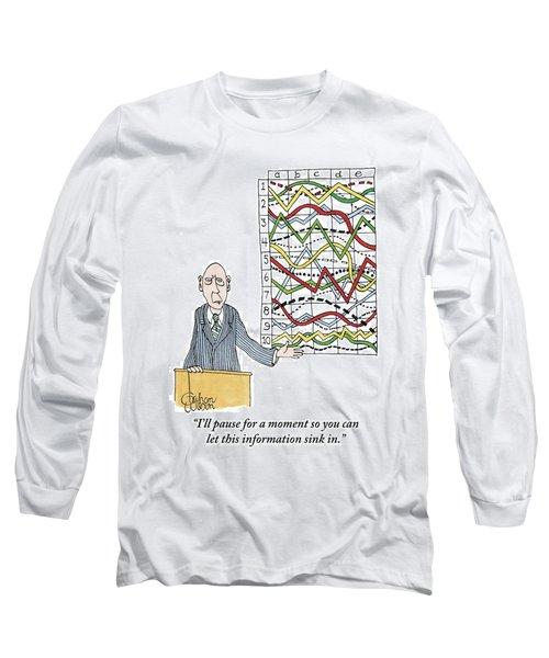 A Businessman Stands Behind A Podium Long Sleeve T-Shirt