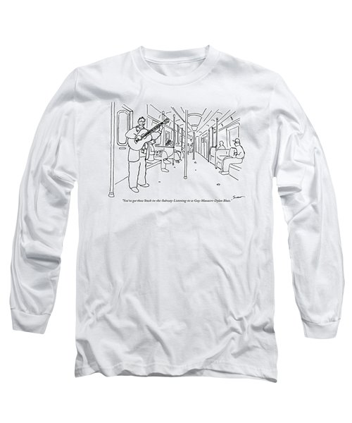 A Busker Sings And Plays Guitar For Uninterested Long Sleeve T-Shirt