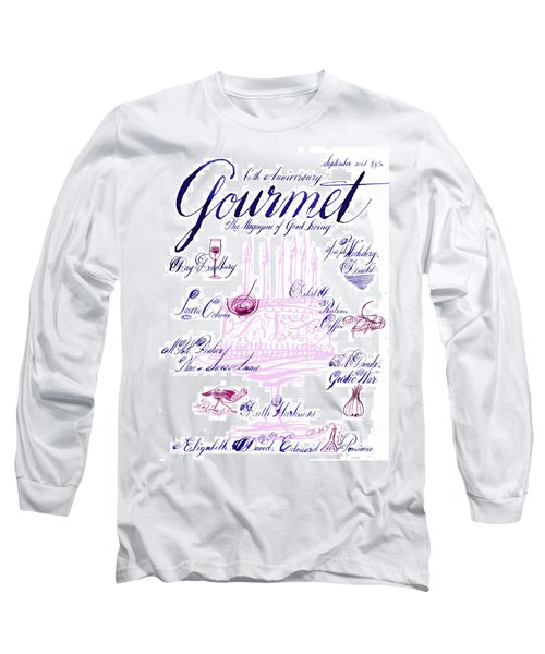 A Calligraphy Illustration Celebrating Sixty Long Sleeve T-Shirt