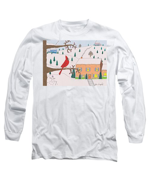A Cardinal Christmas Long Sleeve T-Shirt