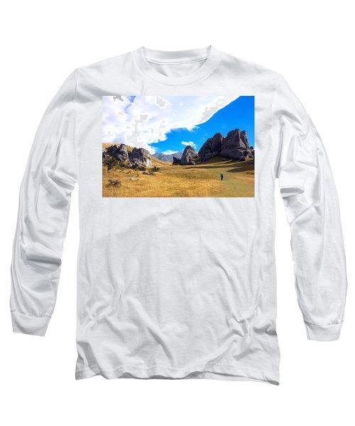A Castle Hill Walk Long Sleeve T-Shirt by Stuart Litoff