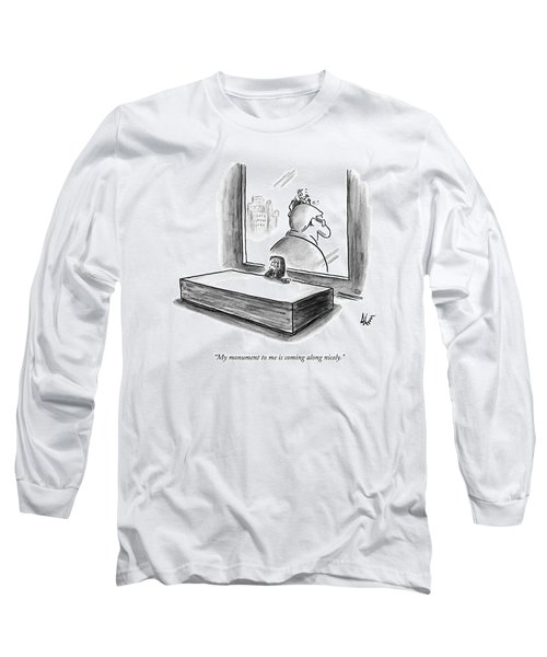 A Ceo Speaks On The Phone.  Outside His Window Long Sleeve T-Shirt