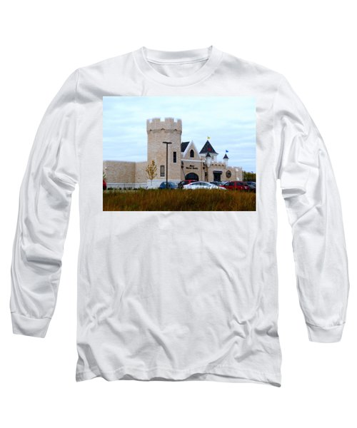 A Cheese Castle Long Sleeve T-Shirt by Kay Novy
