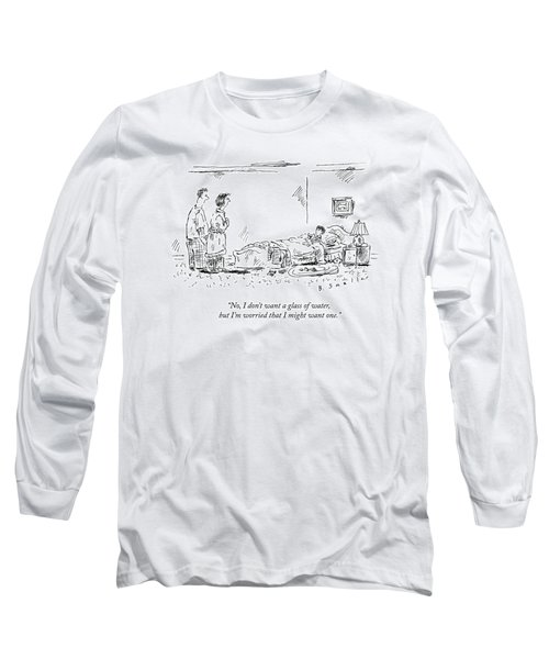 A Child Going To Bed Speaks To His Parents Long Sleeve T-Shirt