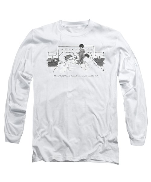 A Child Jumps On His Parents' Bed Long Sleeve T-Shirt