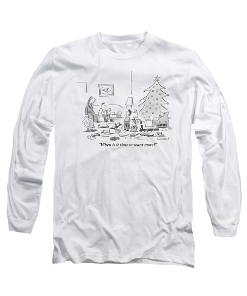 A Child Talks To His Mother And Father Long Sleeve T-Shirt