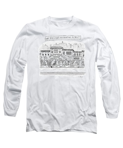 A City Block Is Full Of Buildings With Glass Long Sleeve T-Shirt