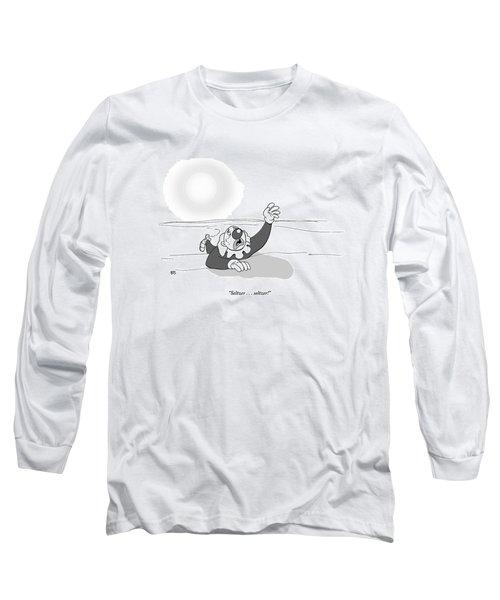 A Clown Crawls Through The Desert Long Sleeve T-Shirt