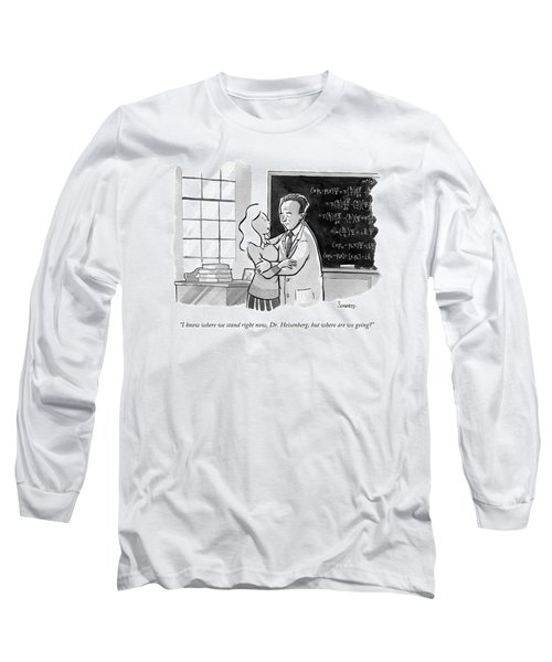 A Concerned Woman Embraces Dr. Heisenberg Long Sleeve T-Shirt