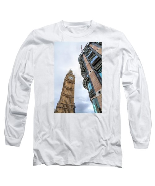 Long Sleeve T-Shirt featuring the photograph A Corner In London by Tim Stanley