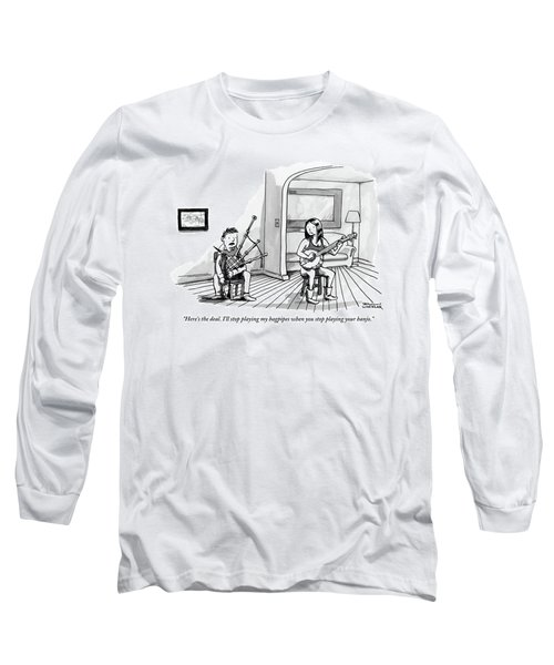 A Couple Sits In The Living Room Testing Who Long Sleeve T-Shirt