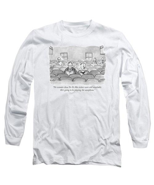 A Couple Sits Reading A Playbill Long Sleeve T-Shirt