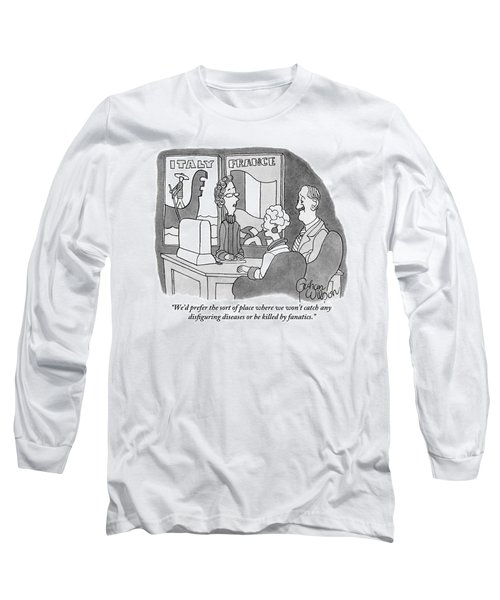 A Couple Speaks To A Travel Agent Long Sleeve T-Shirt