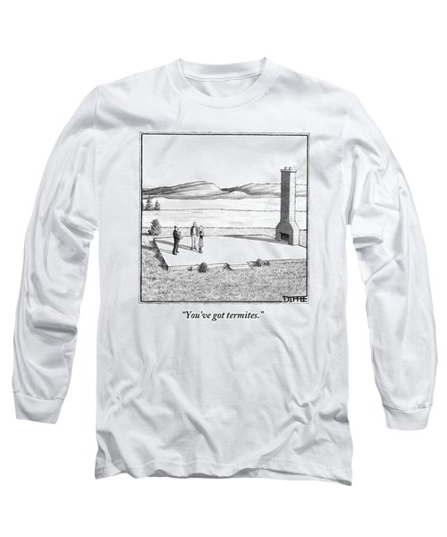 A Couple Stand In An Empty House Frame Long Sleeve T-Shirt